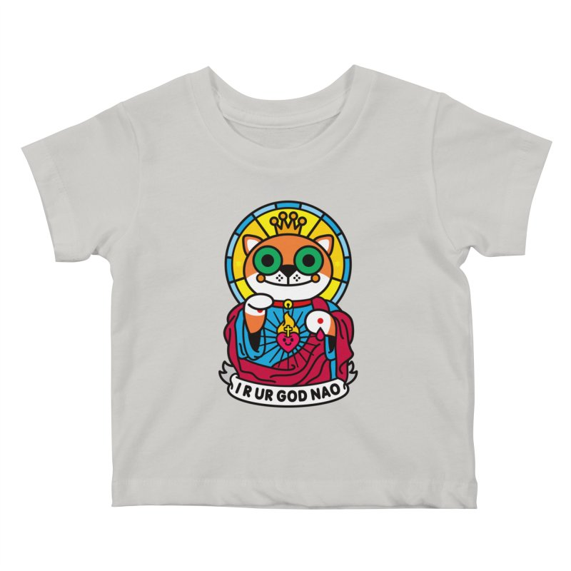 Jeezus Cat Kids Baby T-Shirt by SuperHappyMagic