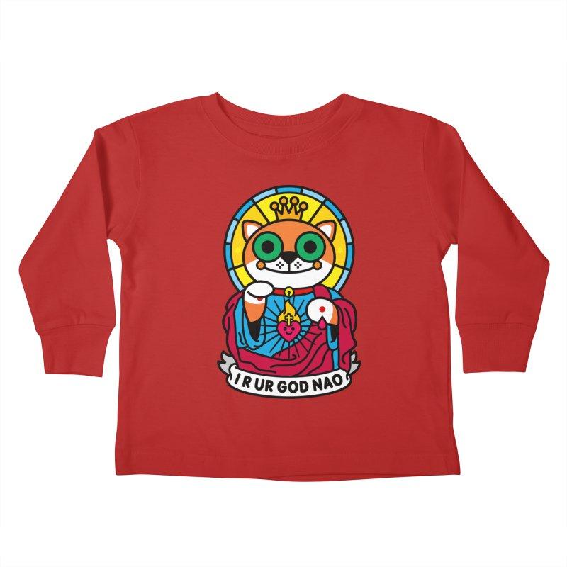 Jeezus Cat Kids Toddler Longsleeve T-Shirt by SuperHappyMagic