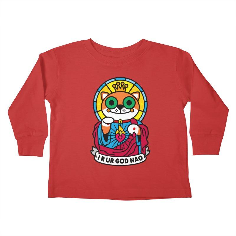 Jeezus Cat Kids Toddler Longsleeve T-Shirt by StudioDelme