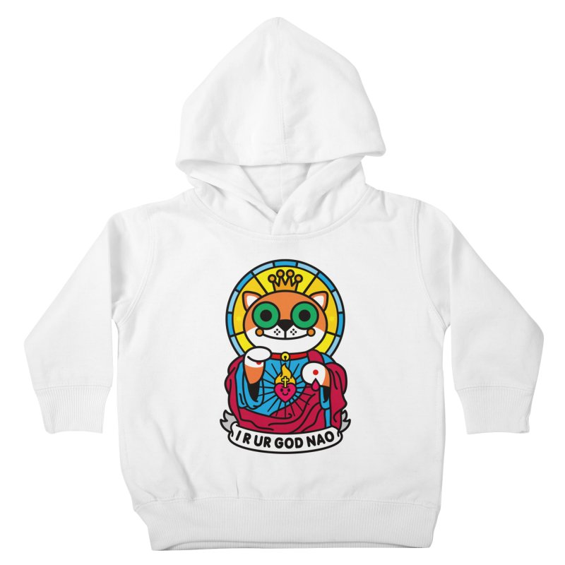 Jeezus Cat Kids Toddler Pullover Hoody by SuperHappyMagic