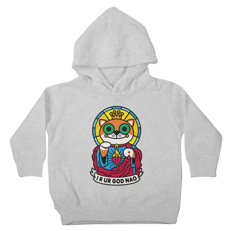 Jeezus Cat Kids Toddler Pullover Hoody by StudioDelme
