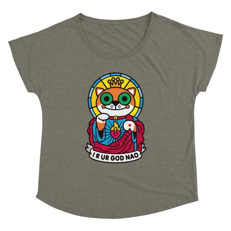 Jeezus Cat Women's Dolman by SuperHappyMagic
