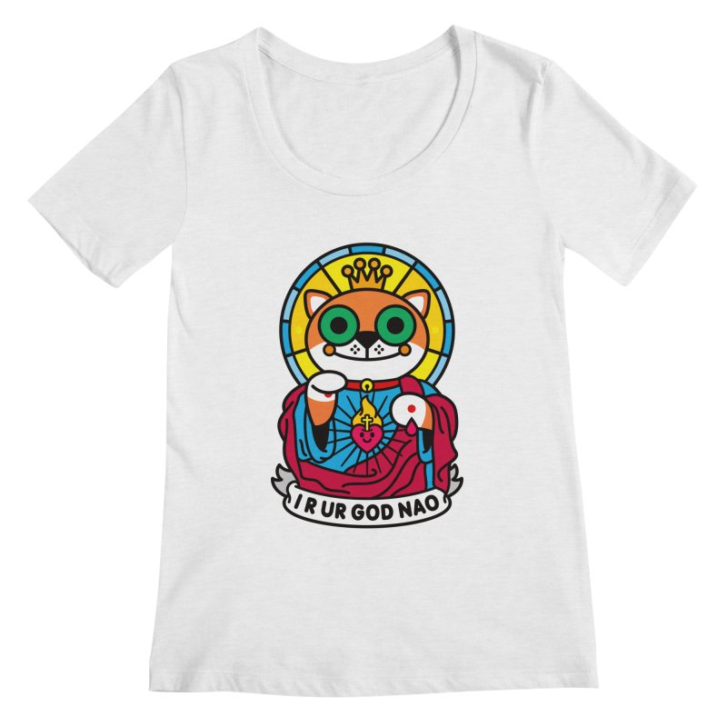 Jeezus Cat Women's Regular Scoop Neck by SuperHappyMagic