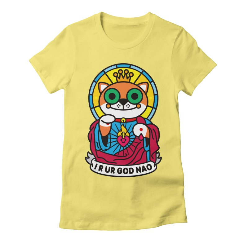 Jeezus Cat Women's Fitted T-Shirt by SuperHappyMagic