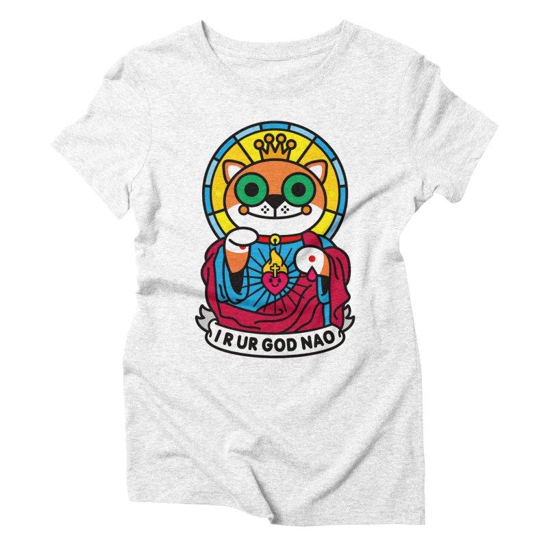 Jeezus Cat Women's Triblend T-shirt by SuperHappyMagic