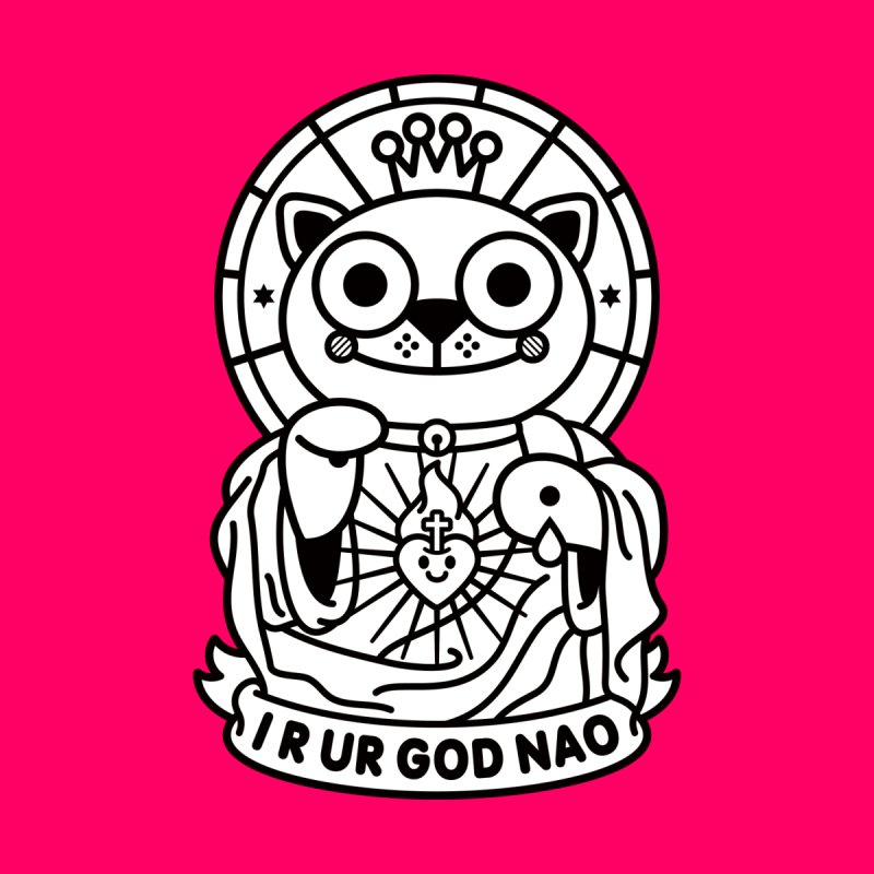 Jeezus Cat B/W by StudioDelme