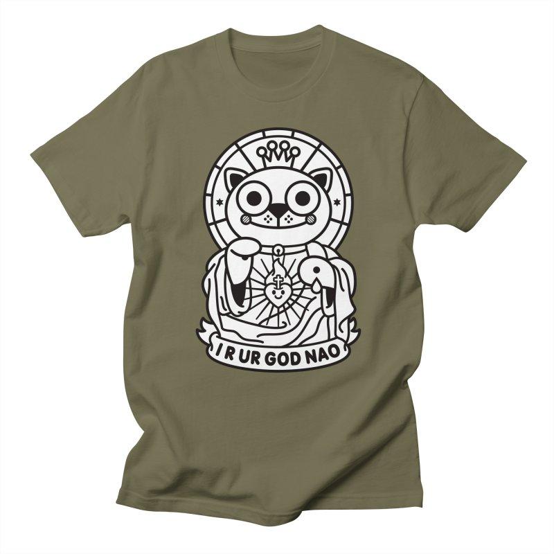 Jeezus Cat B/W Women's Regular Unisex T-Shirt by SuperHappyMagic