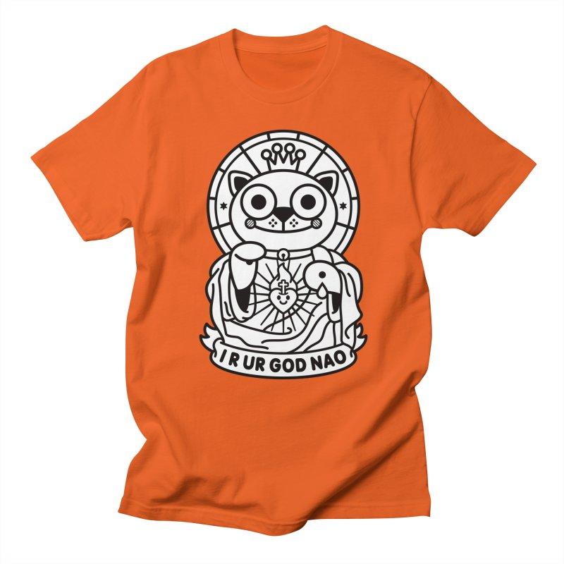 Jeezus Cat B/W Women's Unisex T-Shirt by SuperHappyMagic