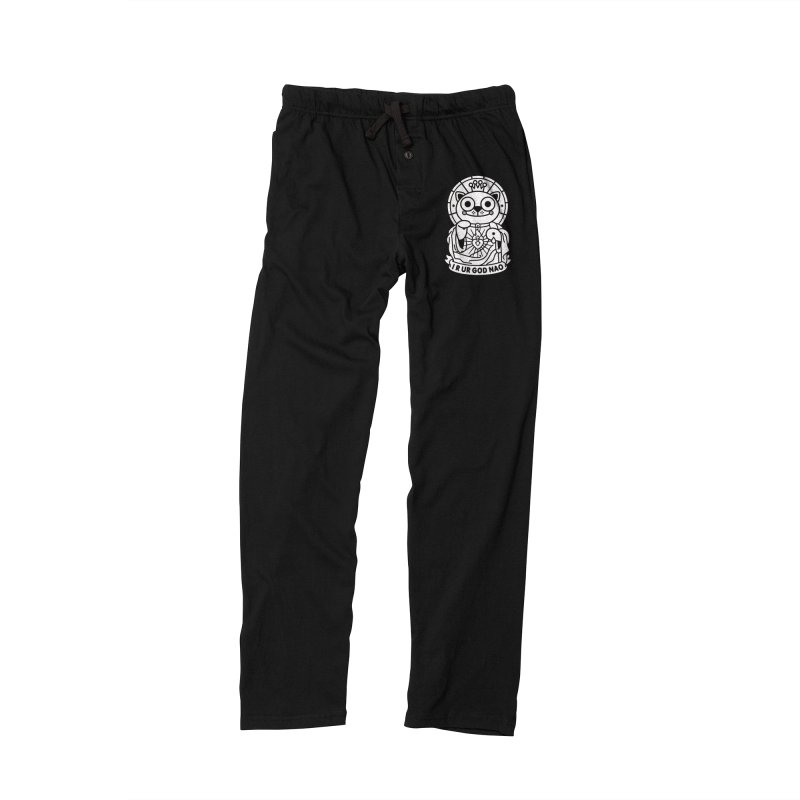 Jeezus Cat B/W Men's Lounge Pants by SuperHappyMagic