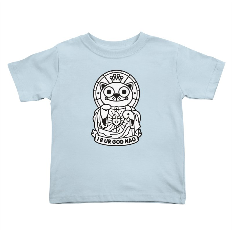 Jeezus Cat B/W Kids Toddler T-Shirt by SuperHappyMagic