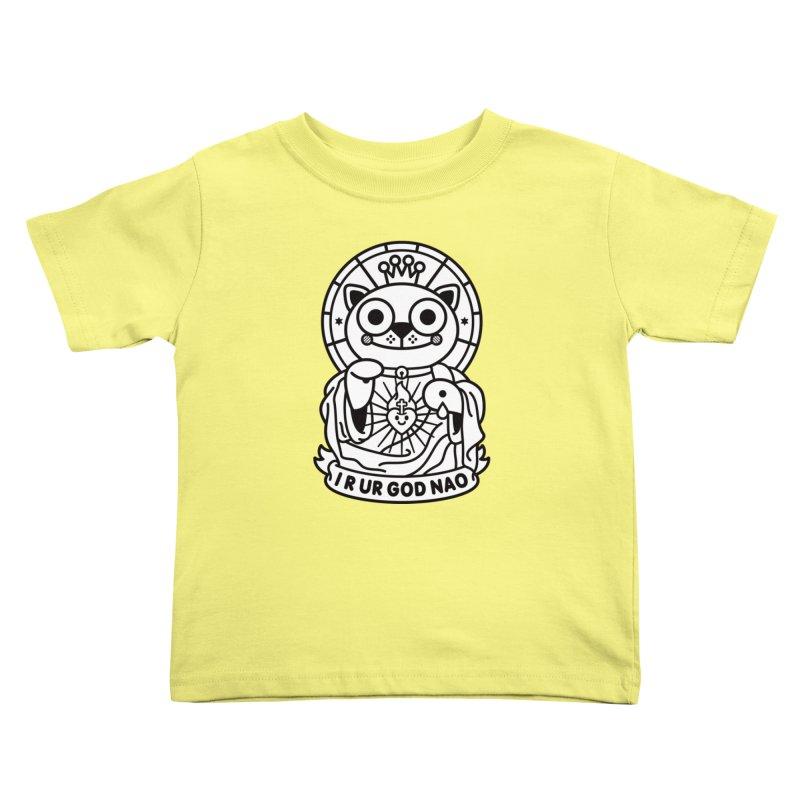 Jeezus Cat B/W Kids Toddler T-Shirt by SuperHappyMagic