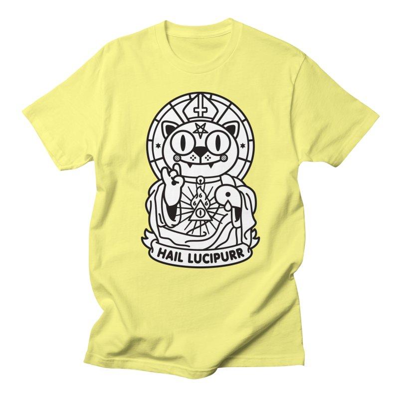 Hail Lucipurr B/W Men's Regular T-Shirt by StudioDelme