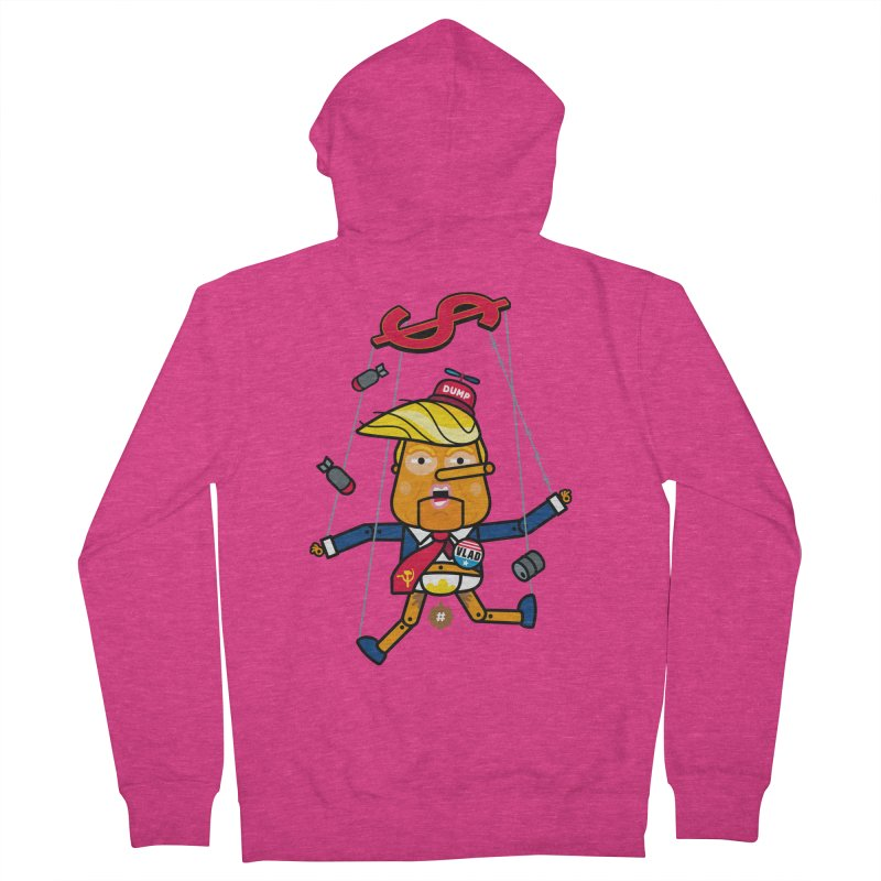 No, you're the puppet Women's French Terry Zip-Up Hoody by SuperHappyMagic