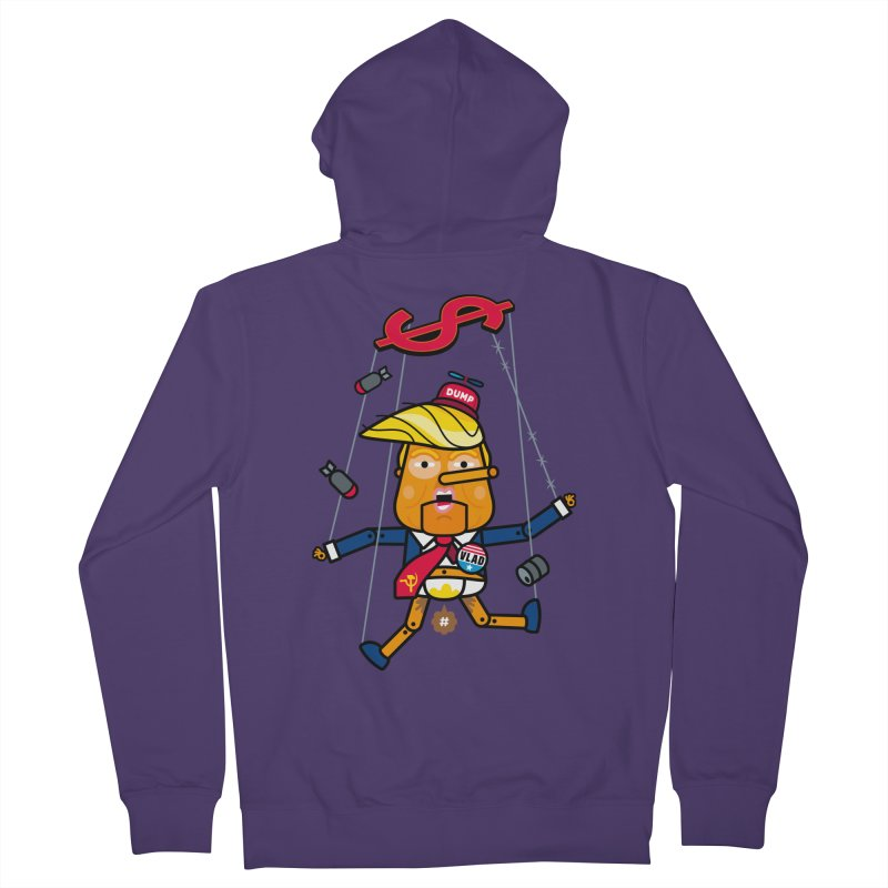 No, you're the puppet Women's Zip-Up Hoody by SuperHappyMagic
