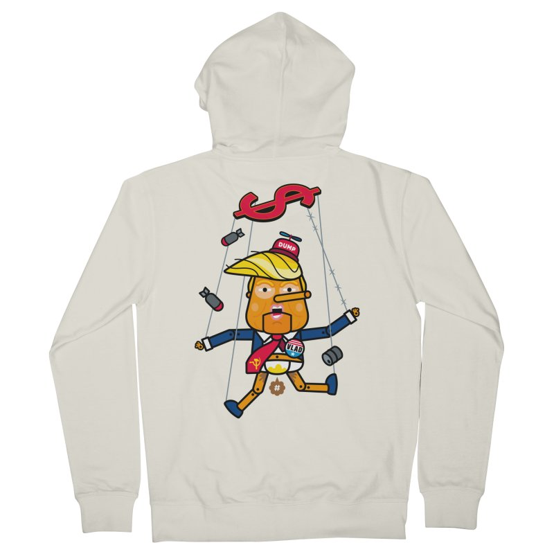 No, you're the puppet Men's Zip-Up Hoody by SuperHappyMagic
