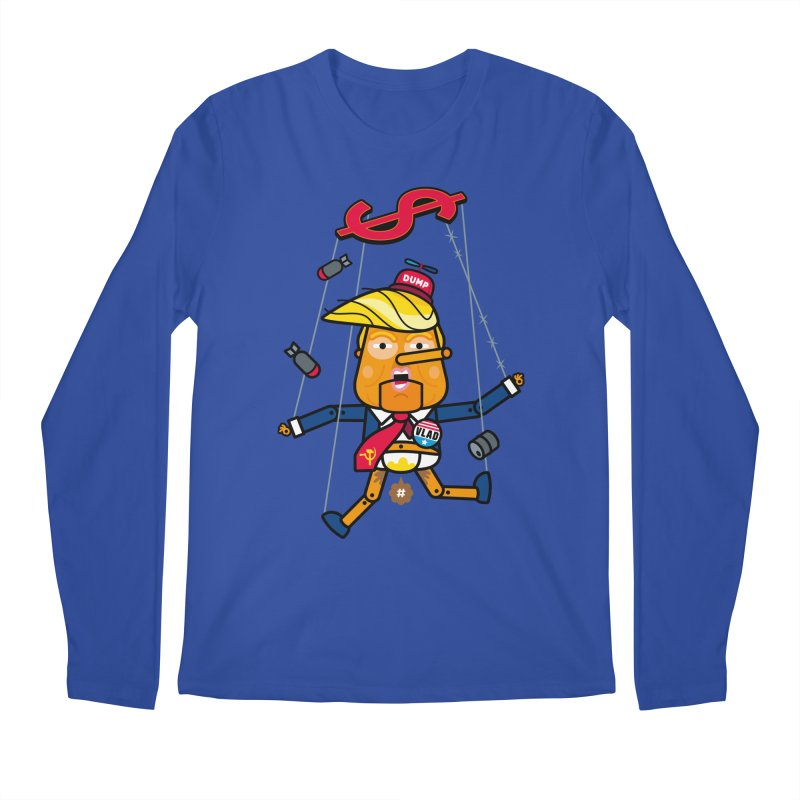 No, you're the puppet Men's Regular Longsleeve T-Shirt by SuperHappyMagic