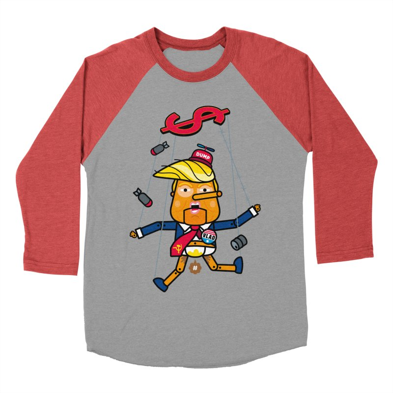 No, you're the puppet Women's Baseball Triblend T-Shirt by SuperHappyMagic