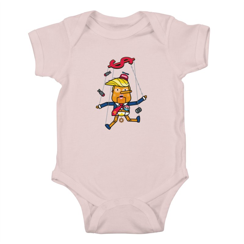 No, you're the puppet Kids Baby Bodysuit by StudioDelme