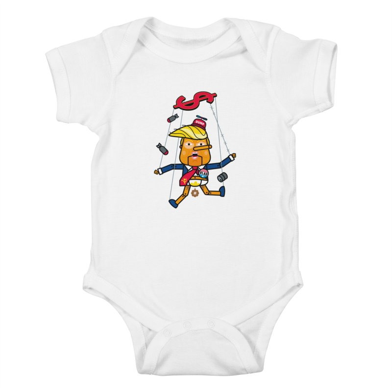 No, you're the puppet Kids Baby Bodysuit by SuperHappyMagic