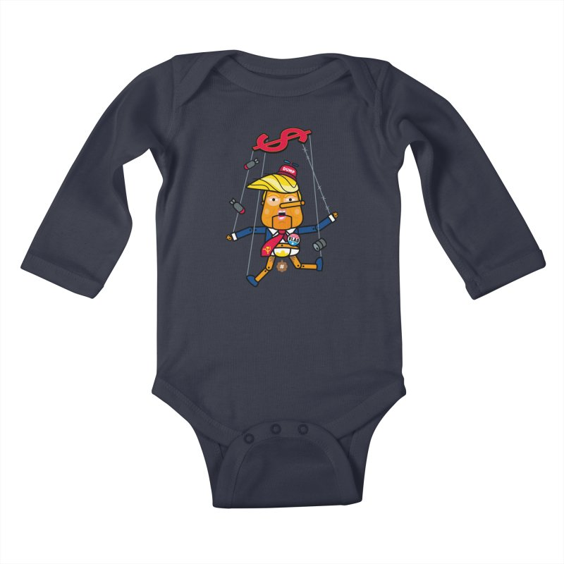 No, you're the puppet Kids Baby Longsleeve Bodysuit by SuperHappyMagic