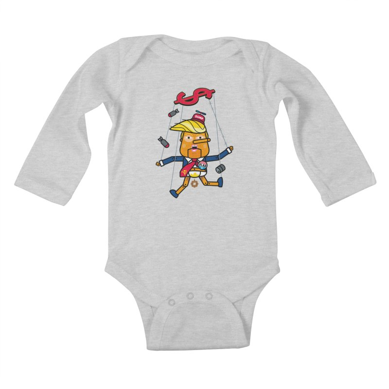 No, you're the puppet Kids Baby Longsleeve Bodysuit by StudioDelme