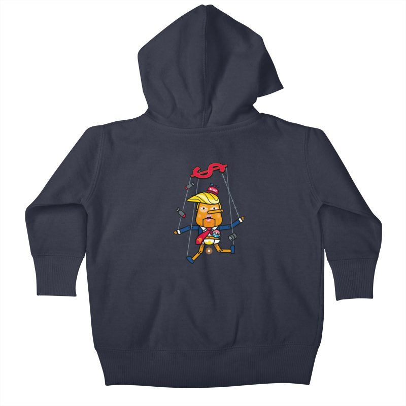 No, you're the puppet Kids Baby Zip-Up Hoody by SuperHappyMagic