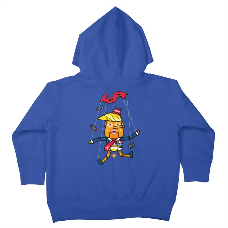 No, you're the puppet Kids Toddler Zip-Up Hoody by SuperHappyMagic