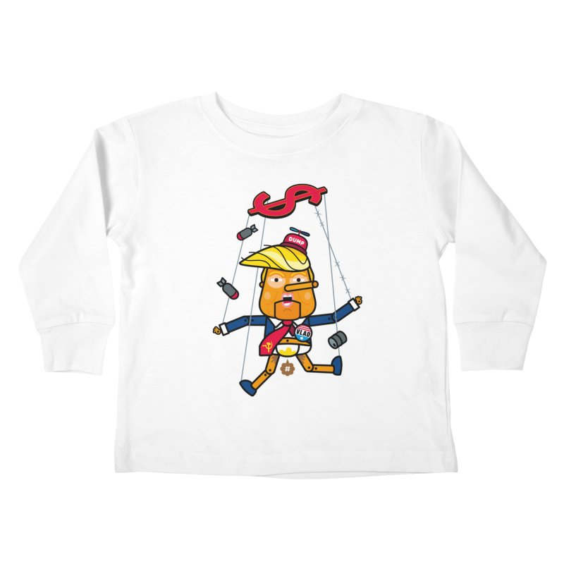 No, you're the puppet Kids Toddler Longsleeve T-Shirt by SuperHappyMagic