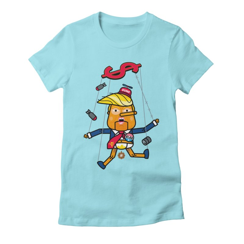 No, you're the puppet Women's Fitted T-Shirt by SuperHappyMagic