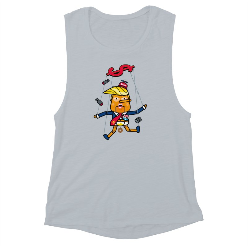 No, you're the puppet Women's Muscle Tank by SuperHappyMagic