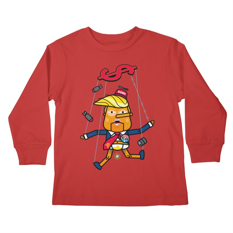 No, you're the puppet Kids Longsleeve T-Shirt by StudioDelme