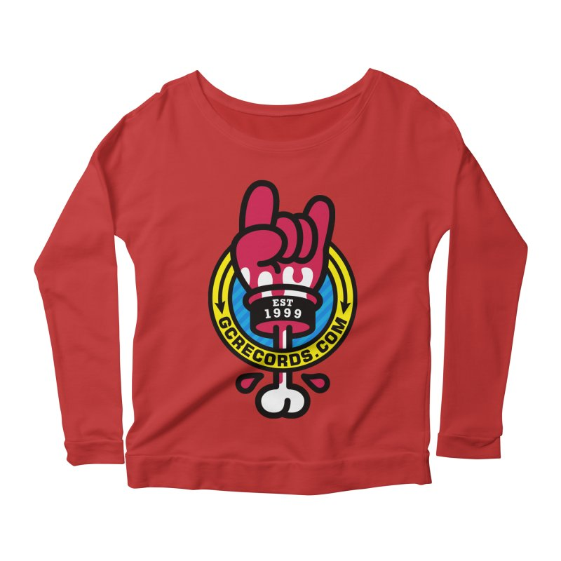 GC Records Women's Scoop Neck Longsleeve T-Shirt by SuperHappyMagic