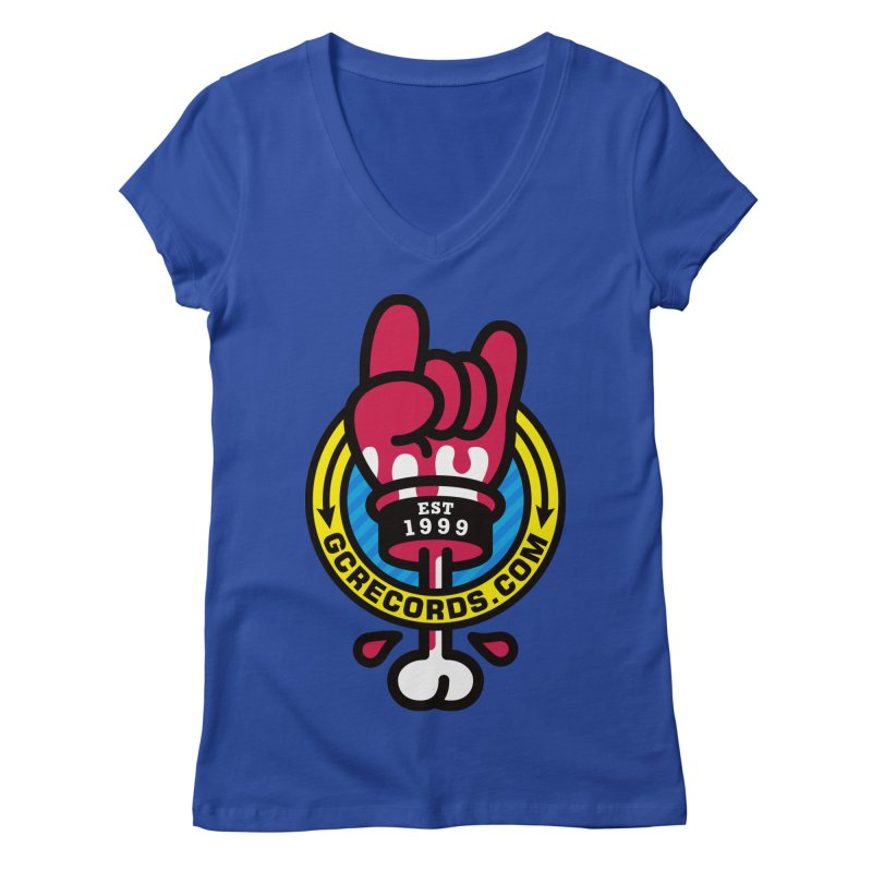 GC Records Women's Regular V-Neck by StudioDelme