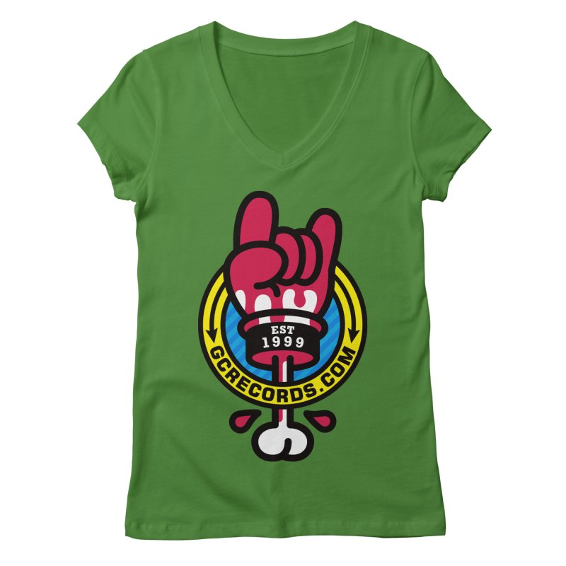 GC Records Women's V-Neck by SuperHappyMagic