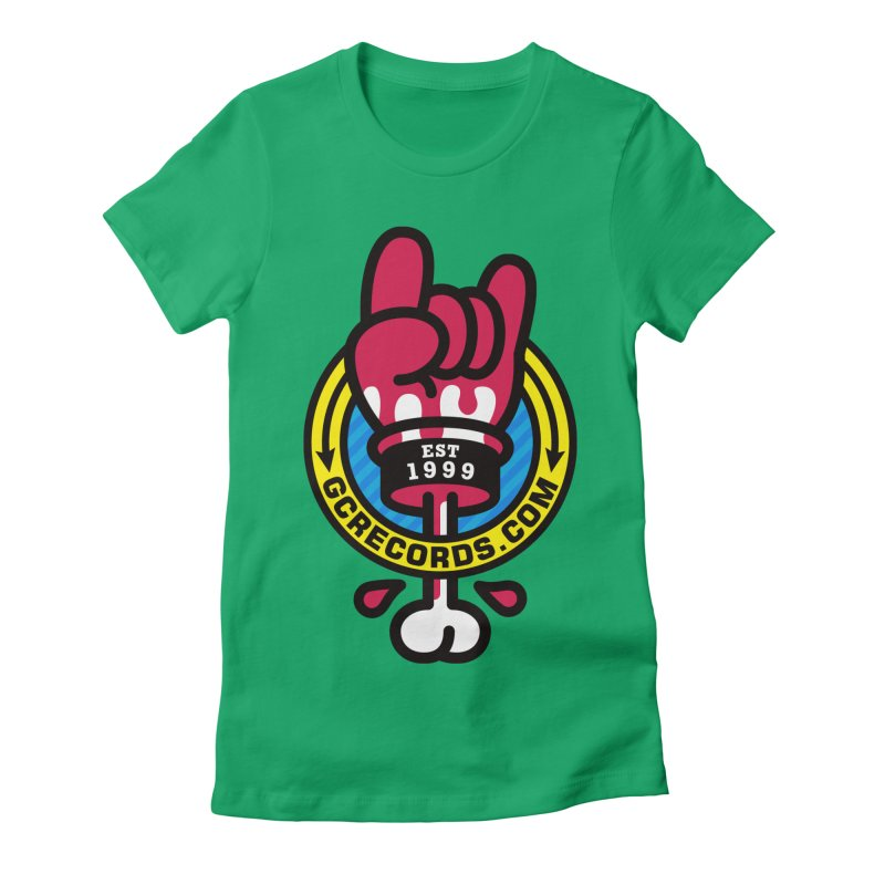 GC Records Women's Fitted T-Shirt by SuperHappyMagic