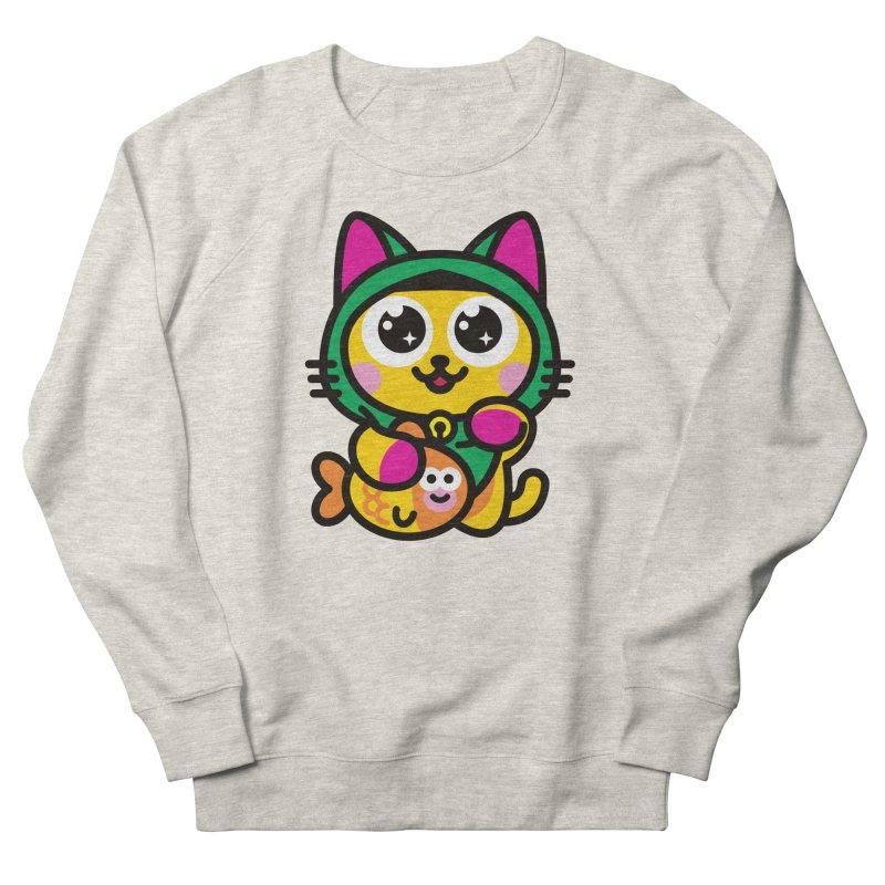 Muezza Women's French Terry Sweatshirt by SuperHappyMagic