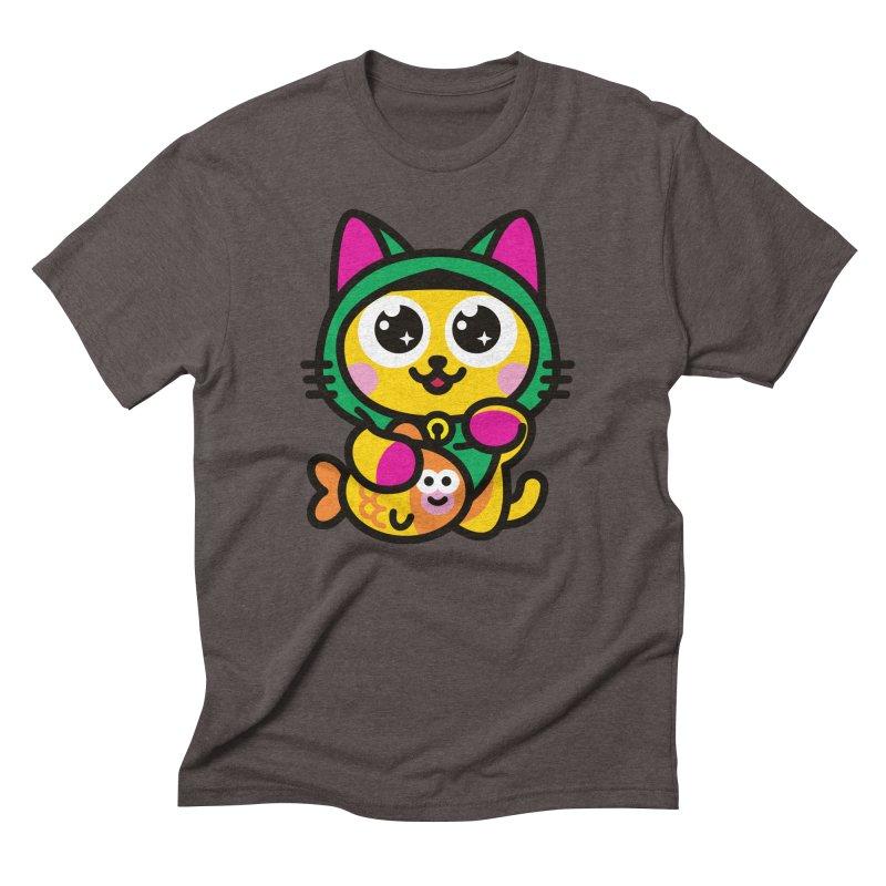 Muezza Men's Triblend T-Shirt by SuperHappyMagic