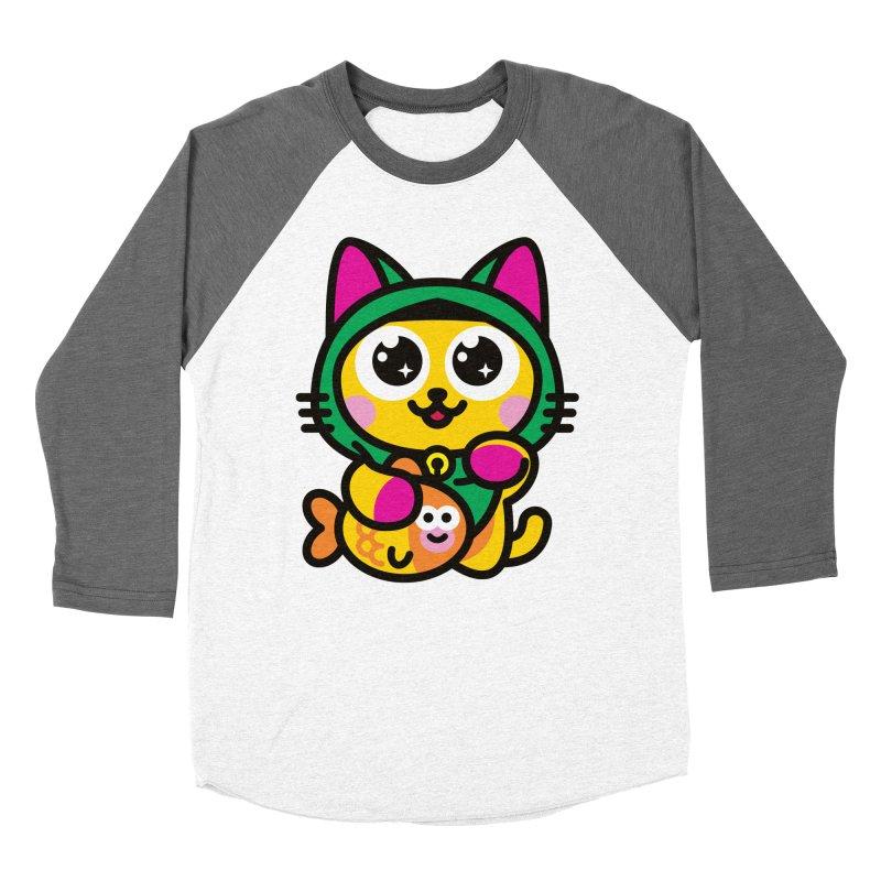 Muezza Women's Baseball Triblend T-Shirt by SuperHappyMagic