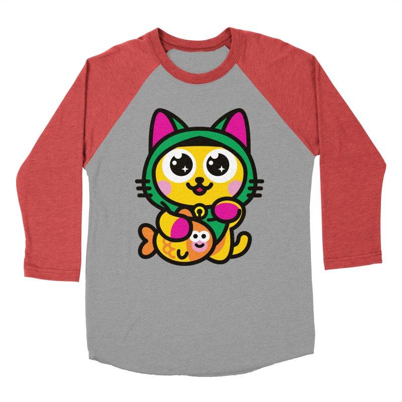 Muezza Women's Baseball Triblend Longsleeve T-Shirt by SuperHappyMagic