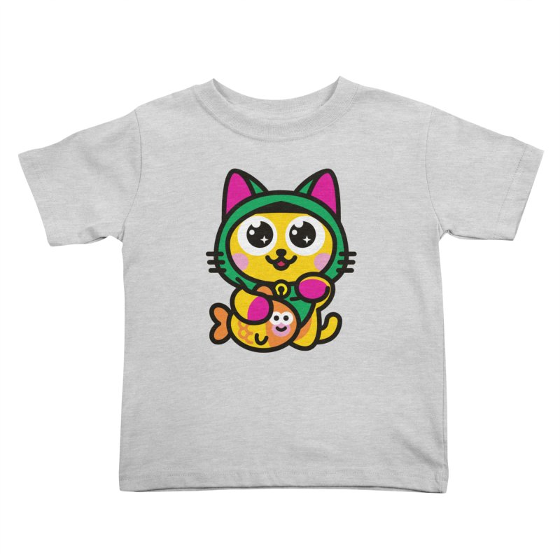 Muezza Kids Toddler T-Shirt by SuperHappyMagic