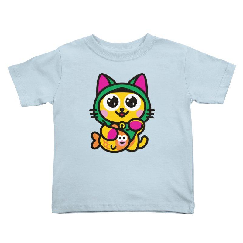 Muezza Kids Toddler T-Shirt by StudioDelme