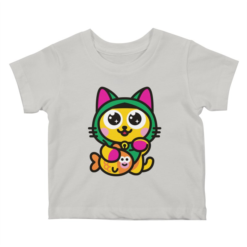 Muezza Kids Baby T-Shirt by SuperHappyMagic