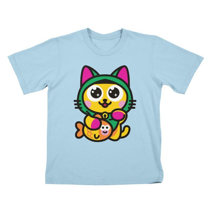 Muezza Kids T-Shirt by SuperHappyMagic