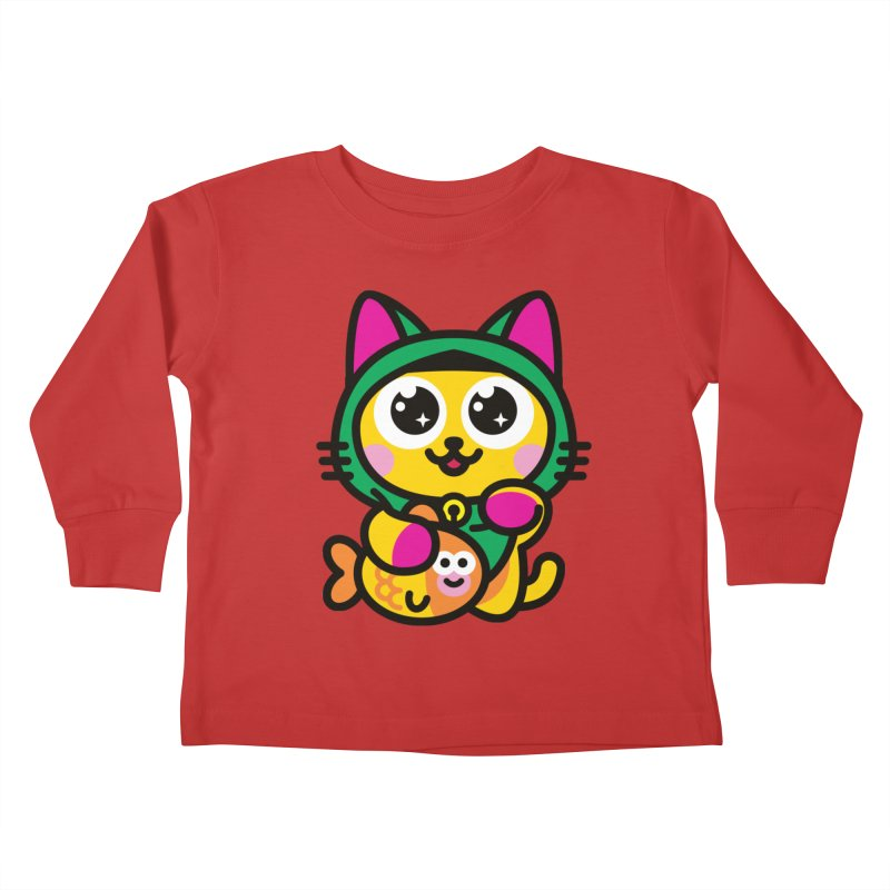 Muezza Kids Toddler Longsleeve T-Shirt by SuperHappyMagic