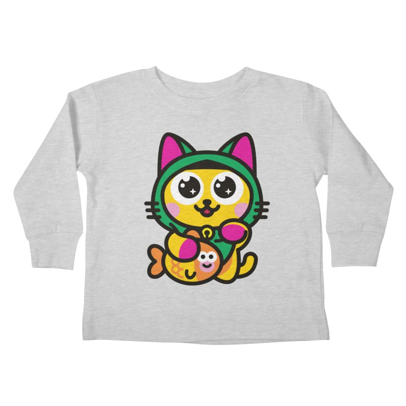 Muezza Kids Toddler Longsleeve T-Shirt by SuperHappyMagic