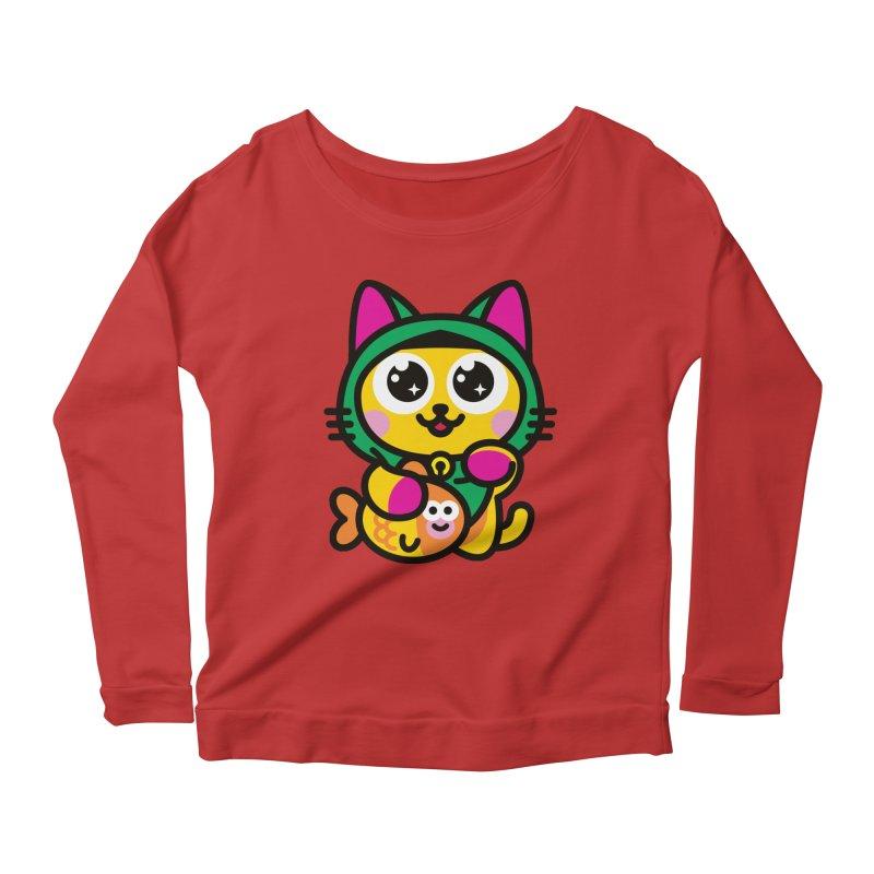 Muezza Women's Scoop Neck Longsleeve T-Shirt by SuperHappyMagic