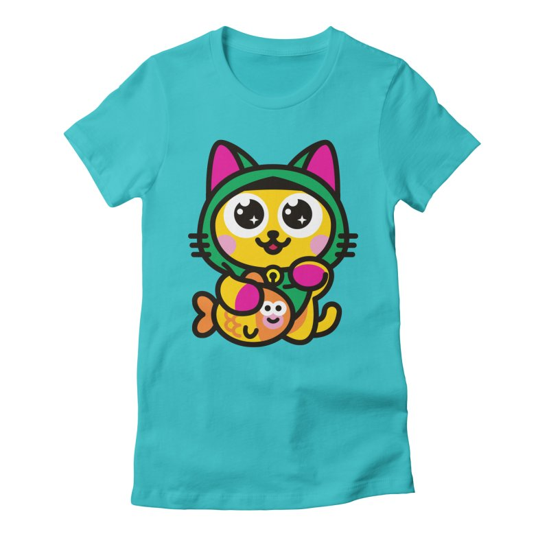 Muezza Women's Fitted T-Shirt by SuperHappyMagic