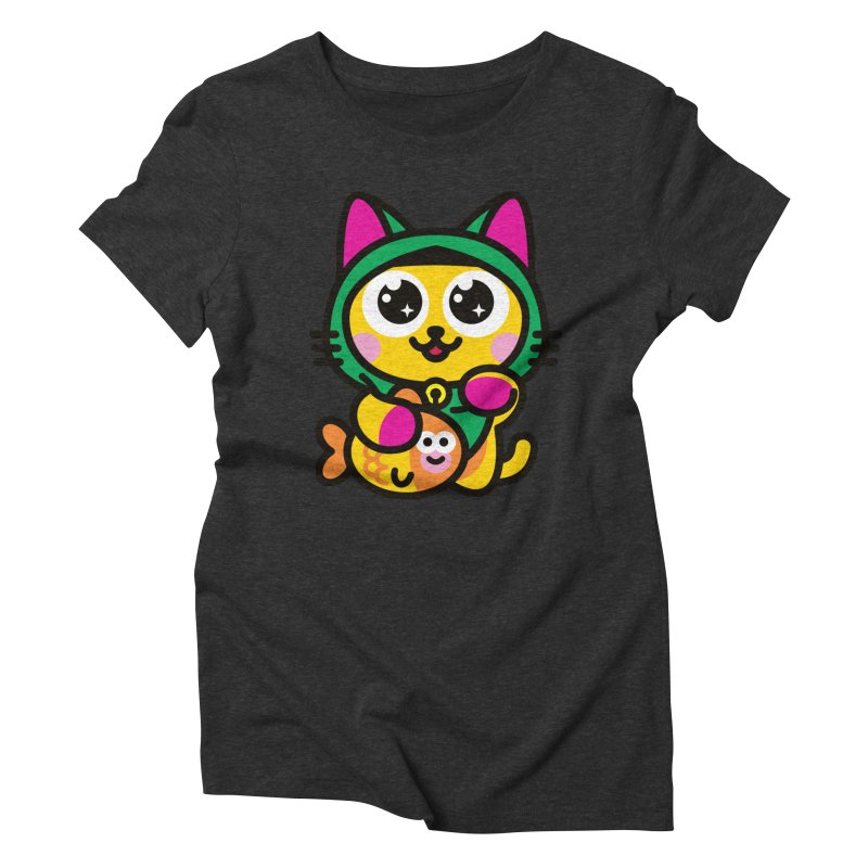 Muezza Women's Triblend T-Shirt by SuperHappyMagic