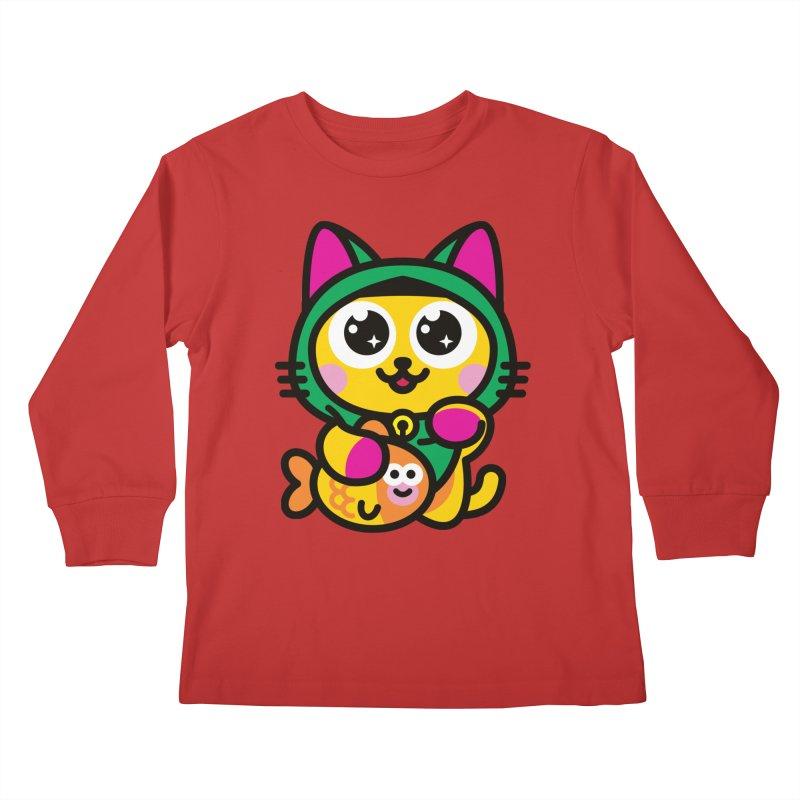 Muezza Kids Longsleeve T-Shirt by StudioDelme