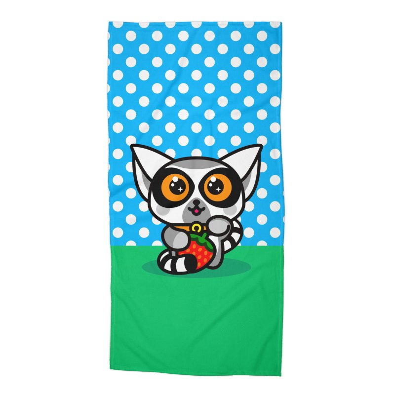 Lucky Lemur Accessories Beach Towel by SuperHappyMagic